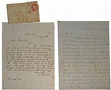 TWO PRE CIVIL WAR LETTERS