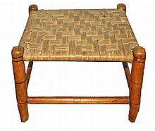 PRIMITIVE PINE FOOT STOOL