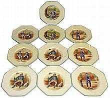 TEN WEDGWOOD CHARLES DICKENS PLATES