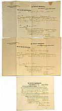 THREE PRE CIVIL WAR LEGAL DOCUMENTS