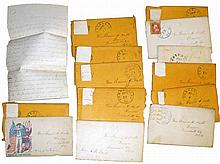 13 CIVIL WAR LETTERS IN ENVELOPES