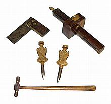 FIVE EARLY AMERICAN TOOLS