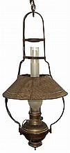 EARLY HANGING OIL LAMP
