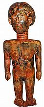 CARVED AKAN FIGURE
