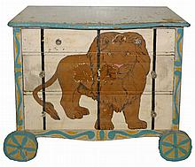 FOLK ART PAINTED DRESSER