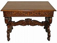 CARVED OAK NORTHWIND TABLE