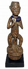 CARVED WOOD STATUE - HUNDE PEOPLE