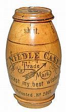 19TH CENTURY WOOD NEEDLECASE