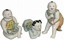 THREE LARGE CHINESE PORCELAIN FIGURES