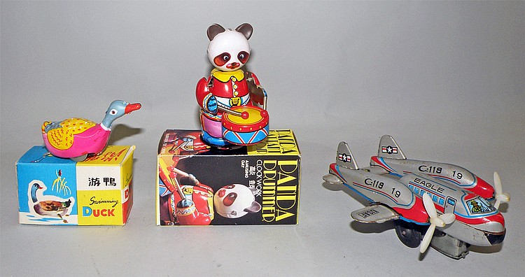 THREE TIN TOYS