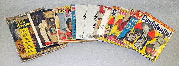 LOT OF MAGAZINES FEATURING ELVIS PRESLEY