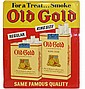 EMBOSSED TIN OLD GOLD CIGARETTE SIGN