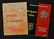 1969 Wales rugby tour to New Zealand signed rugby