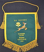 2002 Official South Africa Embroidered Pennant for