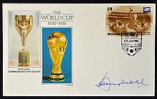 Bobby Moore Signed First Day Cover 'The World Cup