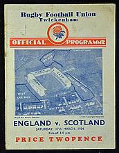 1934 England (Grand Slam Champions) v Scotland rug