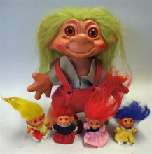 Dam Troll Doll Selection to include Large 1964 Gir