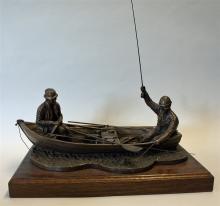 Angling Bronze Sir David Hughes Ltd Edition bronze