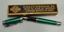 Harley Davidson Fountain Pen c/w original box, gre