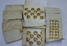 Collection of American Military Buttons all laid o