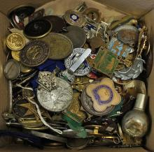 Large Collection of Buttons, Badges, Medallions an