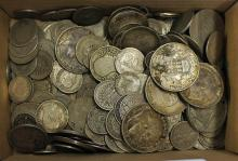 Quantity of Silver Coins predominantly foreign to
