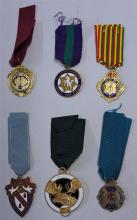 Selection of Masonic Medals on ribbon to include X