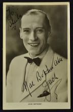 Autograph Jack Anthony on a real photo postcard, i