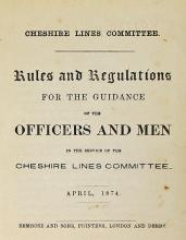 Railway Cheshire Lines Committee 1874  Rules and R