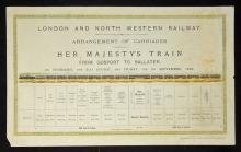 Railway 1899 Royal Train of 15 Coaches ?Arrangemen