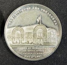 Manchester Exhibition Medallion 1857 Commemorating