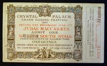 Grand Handel Music Festival Admission Ticket 1857