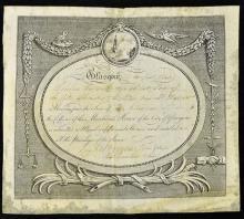 Glasgow Merchant House Membership Certificate 1840