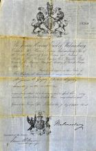 Foreign Office Travel Document 1858 to allow Mr Ja