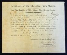 Battle of Waterloo 1817 Document An interesting do