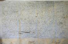 Belgium 17th Century Deed date 1694 relating to th