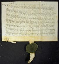 Belgium 16th Century Deed date 1538 relating to tr