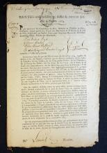 France 18th Century Political Document date 1764 i