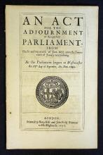 Political 17th Century Document An Act for the Adj