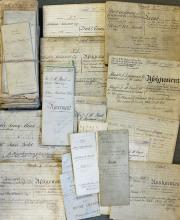 Interesting Collection of London related 19th Deed