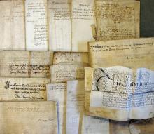 Shropshire 16th Century Lacon Child Indentures a w