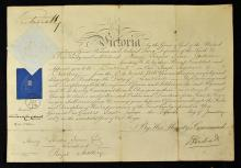 Royal Artillery Commission Signed by ?Queen Victor
