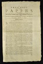 Early Execution Broadside Tyburn London 1696 entit