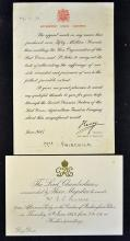 Royal 1946 ?Afternoon Party? Invitation from Their