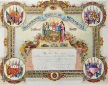 Independent Order of Rechabites Certificates such