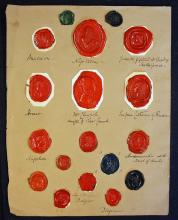 Selection of Wax Seals depicting Napoleon, Empress