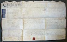 18th Century Vellum Bedford Level Indenture 1786