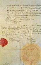19th Century James Forbes Probate Document dated 1