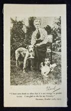 WWI Nurse Edith Cavell Printed Commemorative Silk