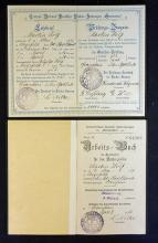 German Baker?s Apprenticeship Booklets relating to